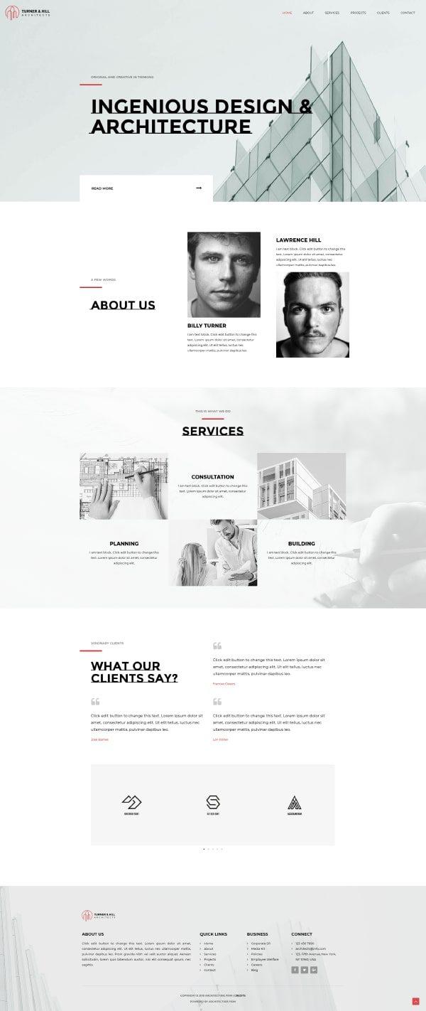 Готовый сайт. Архитектурное бюро