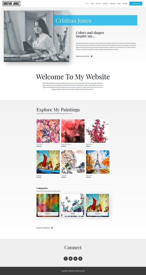 Готовый сайт. Магазин картин