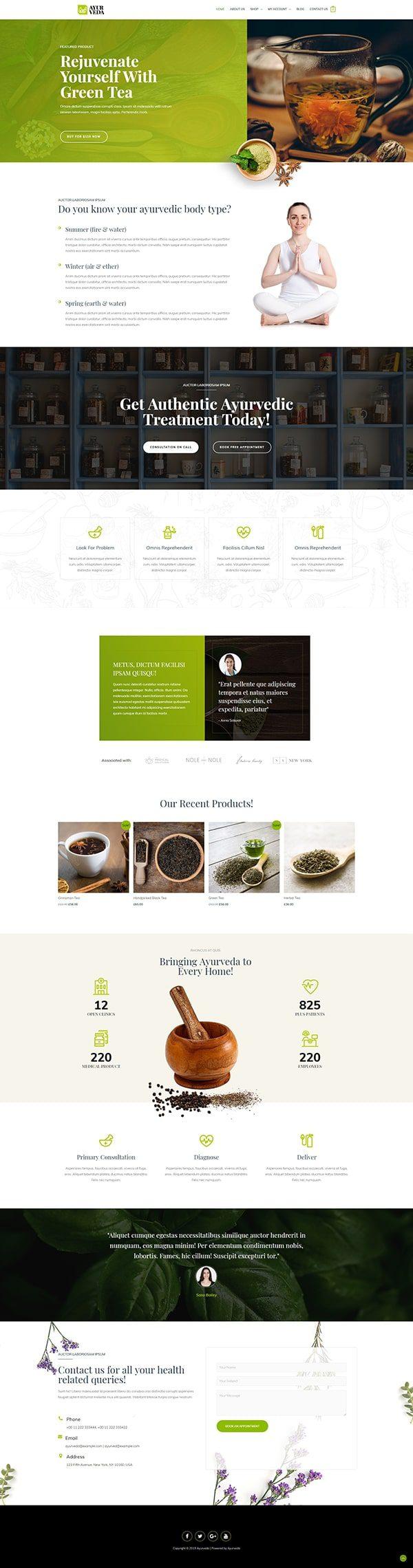 Готовый сайт. Органические продукты