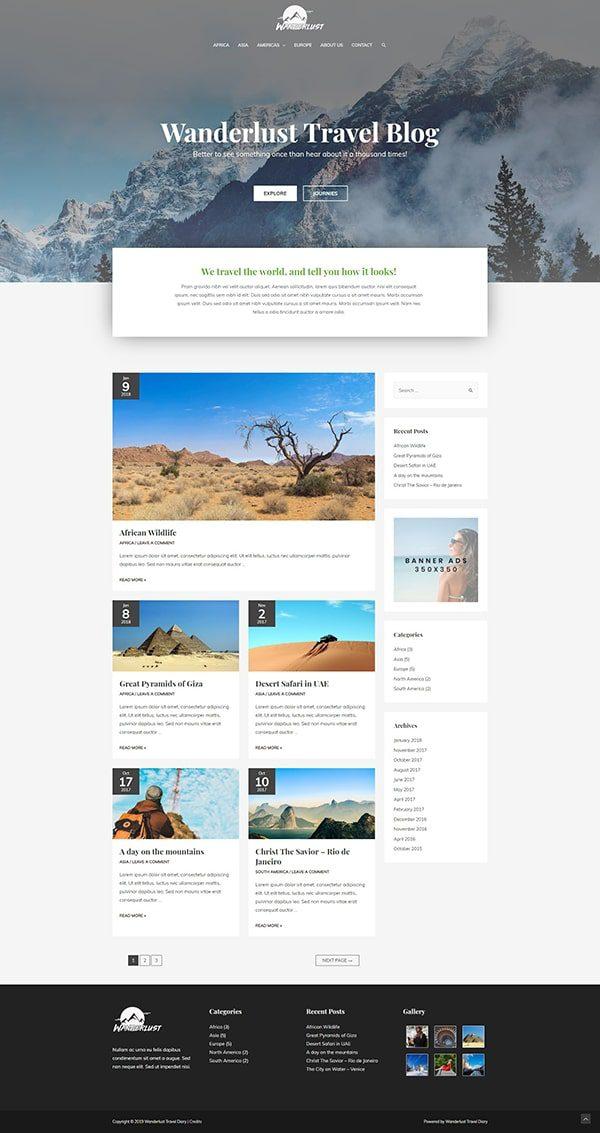 Готовый сайт. Туристическое агентство