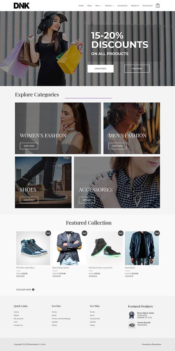 Готовый сайт. Магазин одежды, сумок, акссесуаров