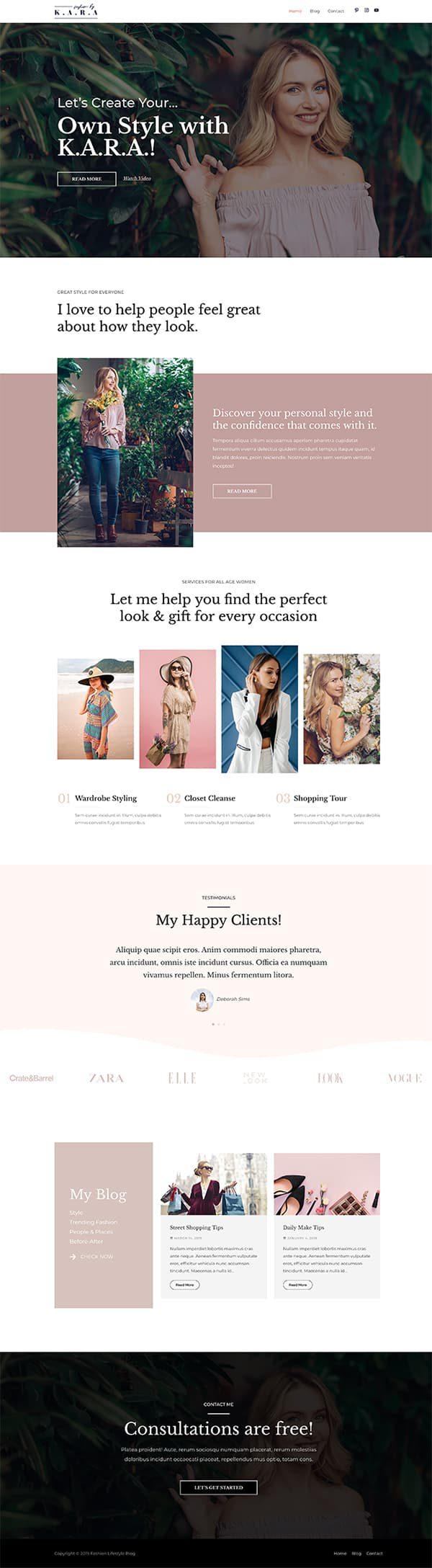 Готовый сайт. Мода, красота, блог