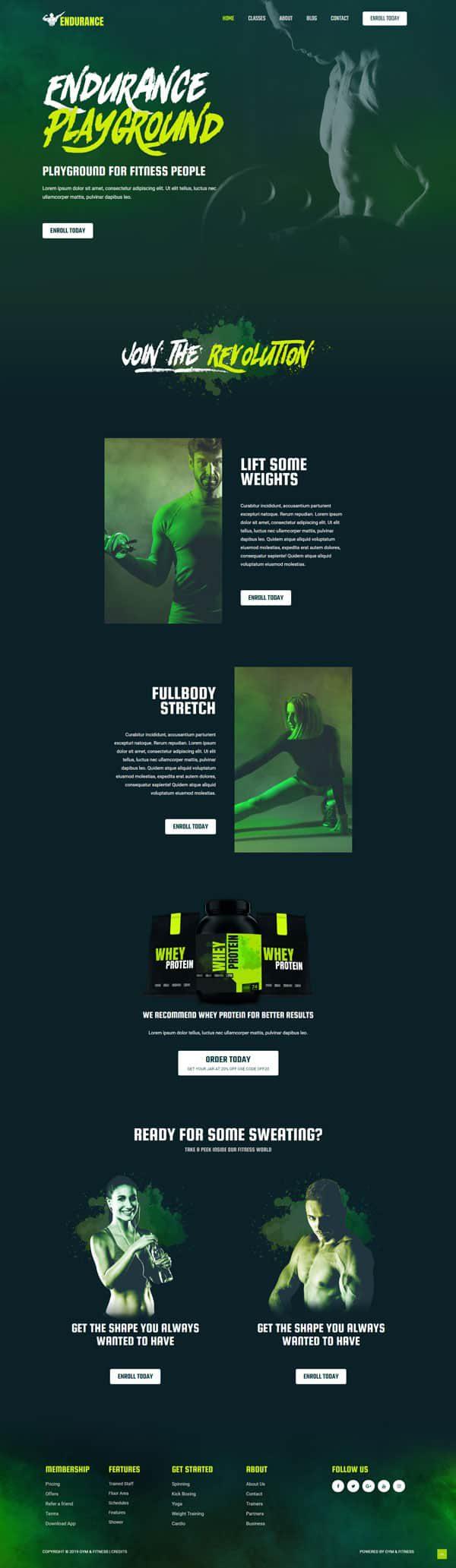 Готовый сайт. Фитнес, спорт, тренер