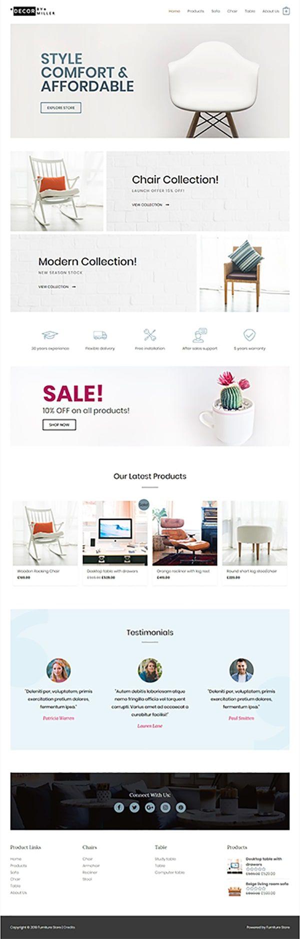 Готовый сайт. Магазин мебели