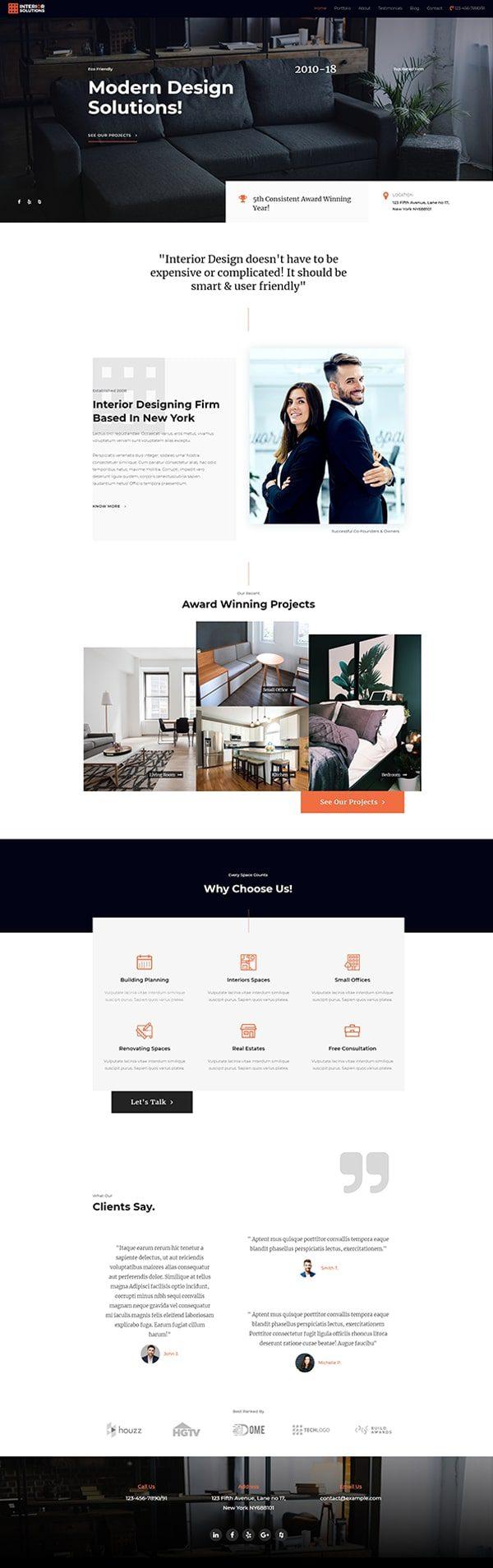 Готовый сайт. Дизайн интерьера