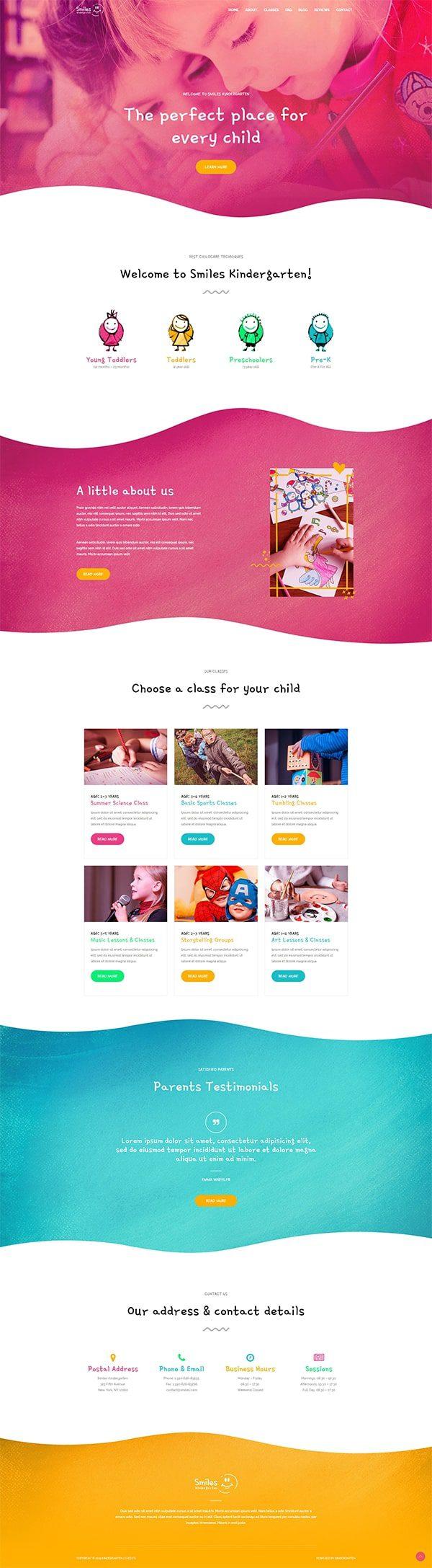 Готовый сайт. Детский образовательный центр