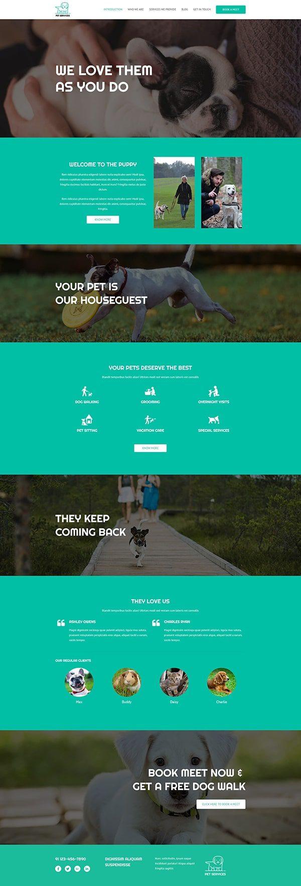 Готовый сайт. Услуги для животных