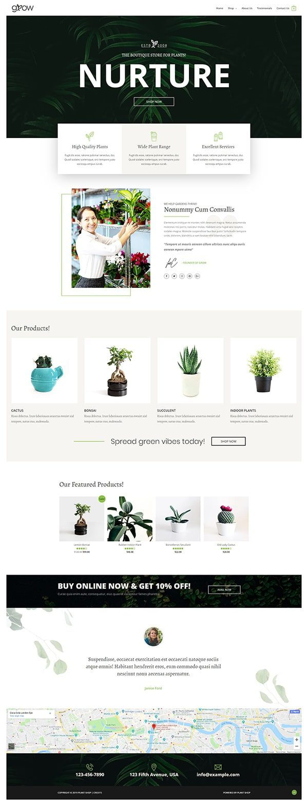 Готовый сайт. Магазин растений