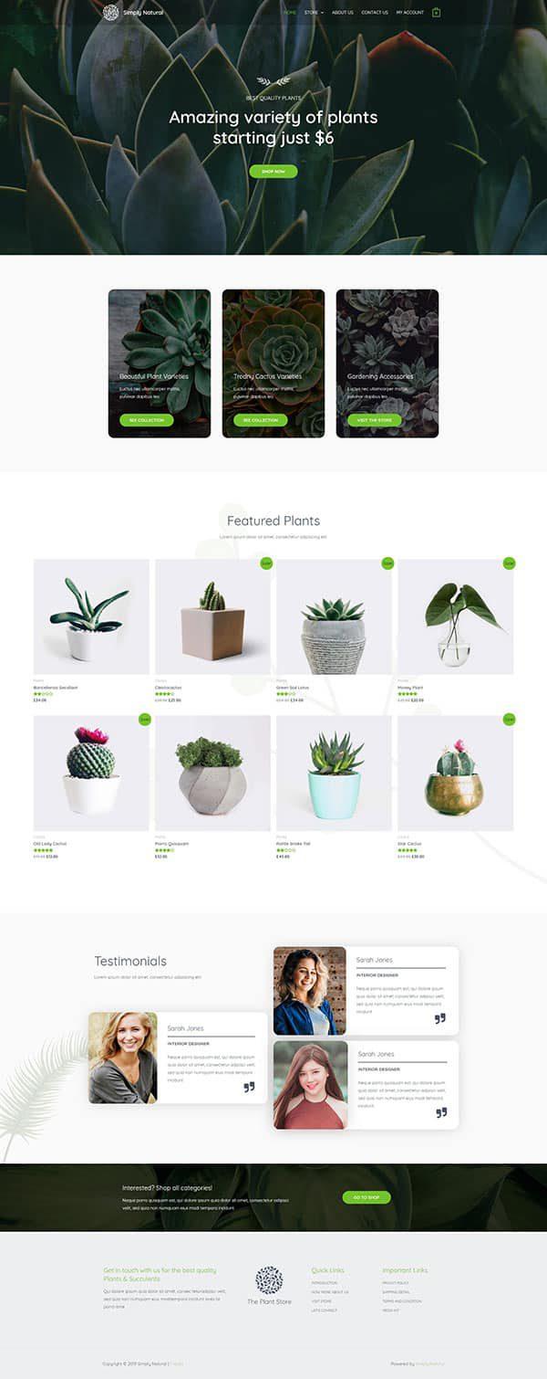 Готовый сайт. Цветы, домашние растения