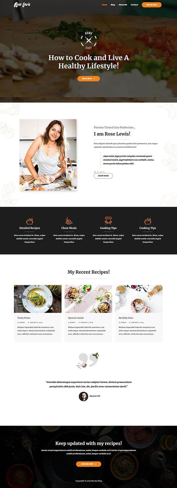Готовый сайт. Ресторан, кафе, рецепты