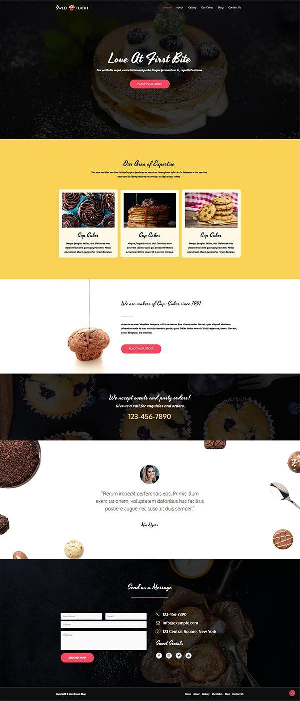 Готовый сайт. Кафе, пекарня, кондитерская
