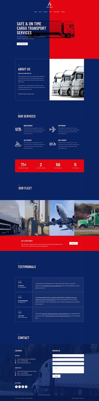 Готовый сайт. Транспортные услуги, перевозки