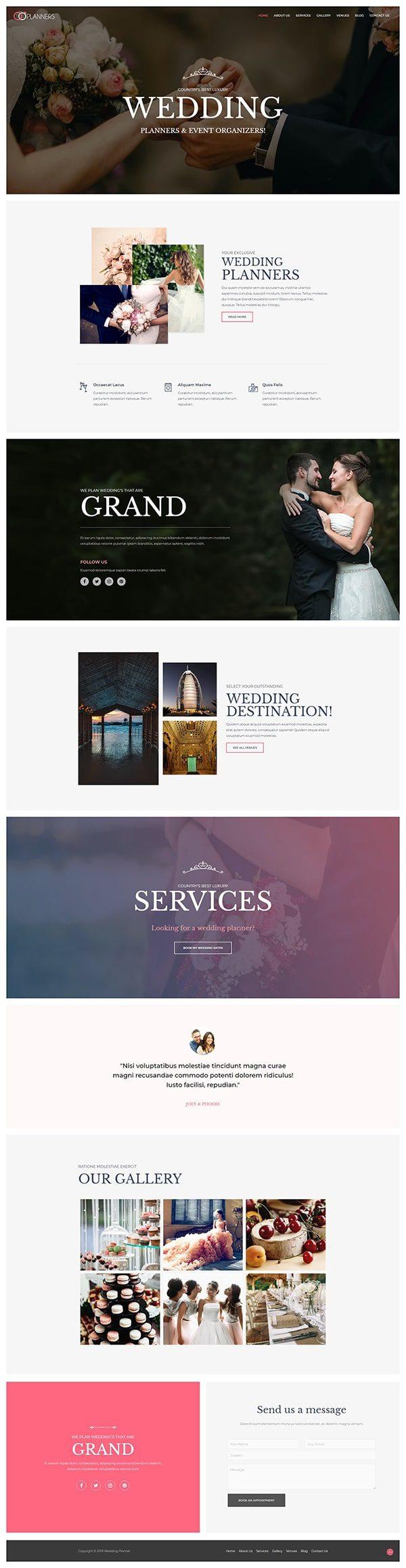 Готовый сайт. Организация свадеб