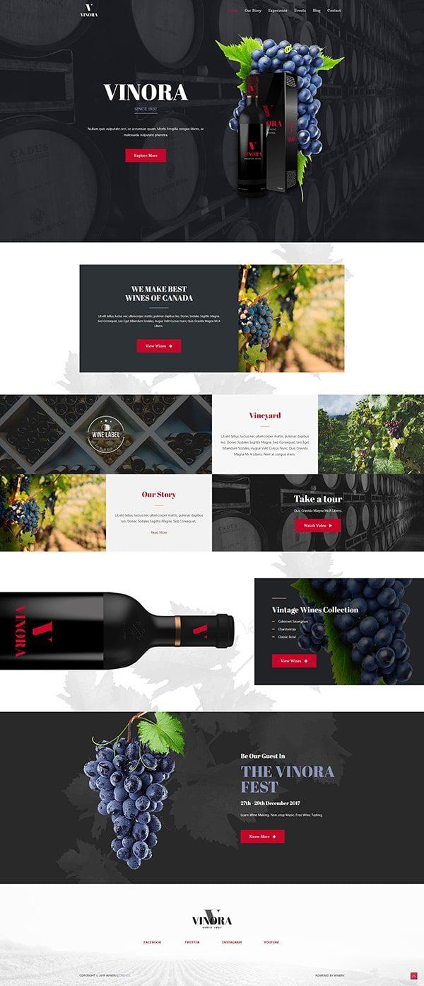 Готовый сайт. Производство вина